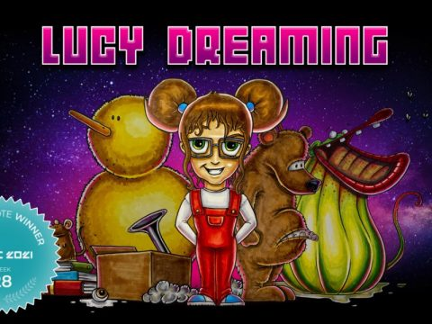 Point & Click Adventure Lucy Dreaming to Victory in Fan Favorite Vote 28 at GDWC 2021!